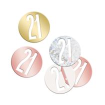 Rose Gold Glitz 21st Birthday Foil Confetti 14g