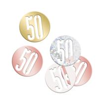 Rose Gold Glitz 50th Birthday Foil Confetti 14g