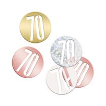 Rose Gold Glitz 70th Birthday Foil Confetti 14g