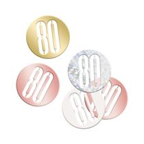 Rose Gold Glitz 80th Birthday Foil Confetti 14g