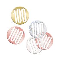 Rose Gold Glitz 100th Birthday Foil Confetti 14g