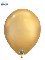 "Qualatex Chrome 7"" Gold Latex Balloons 100pk"