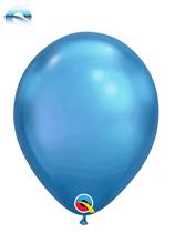 """Qualatex Chrome 7"""" Blue Latex Balloons 100pk"""