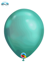 "Qualatex Chrome 7"" Green Latex Balloons 100pk"