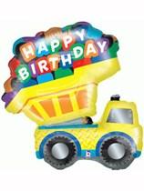 "Happy Birthday Truck 33"" Foil Balloon"