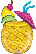 """Tropical Pineapple Drink 37"""" Foil Balloon"""