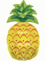 """Holographic Pineapple 37"""" Supershape Foil Balloon"""