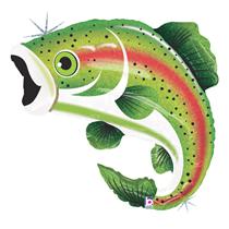 "Rainbow Trout 29"" Large Foil Balloon"