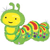 "Holographic 32"" Caterpillar Foil Balloon"