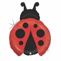 "Holographic 27"" Ladybird Foil Balloon"