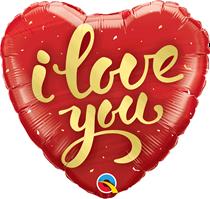 "Valentine's I Love You Script 18"" Heart Foil Balloon"