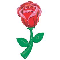 Red Rose 5ft Giant Foil Balloon