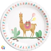 Llama Party 23cm Paper Plates 8pk