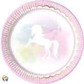 Believe In Unicorns 23cm Paper Plates 8pk