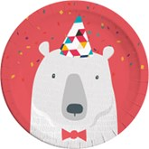 Arctic Polar Bear 23cm Paper Plates 8pk