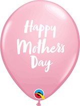 """Mother's Day Script Pink 11"""" Latex Balloons 6pk"""