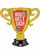 """World's Best Dad 33"""" Supershape Balloon"""