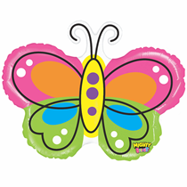 """Mighty Bright 28"""" Butterfly Foil Balloon"""