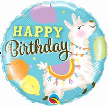 "Happy Birthday Llama 18"" Foil Balloon"