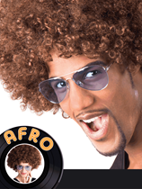 Adult Afro Wig - Brown