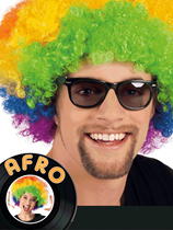 Adult Afro Wig - Multi-coloured