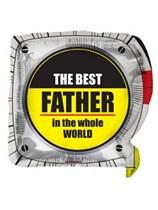"Best Father Tape Measure 18"" Square Foil"