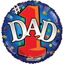 """No. 1 Dad Father's Day 18"""" Round Foil Balloon"""