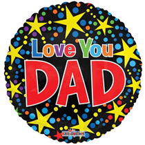 """Father's Day Love You Dad 18"""" Foil Balloon"""