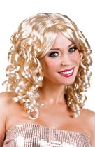 Women's Blonde Cocktail Curly Wig