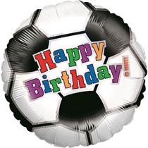 "Happy Birthday Football 18"" Foil Balloon"
