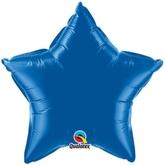 """Dark Blue 20"""" Star Foil Balloon"""