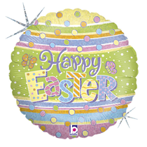 """Happy Easter Holographic Egg 18"""" Foil Balloon"""