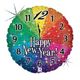 """New Year Countdown Holographic 18"""" Foil Balloon"""