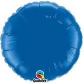 """Dark Blue 18"""" Round Foil Balloon"""
