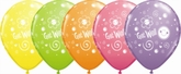 """Assorted """"Get Well"""" 11"""" Latex Balloons 25pk"""