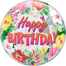 """Tropical Birthday Party Toucan 22"""" Bubble Balloon"""