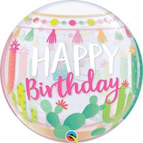 """Happy Birthday Llama Party 22"""" Bubble Balloon"""