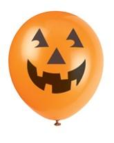 "Halloween Orange Pumpkin 12"" Latex Balloons 6pk"