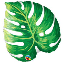 """Tropical Philodendron Leaf 21"""" Foil Balloon"""