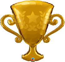 """Golden Trophy 39"""" Foil Balloon"""