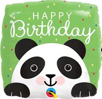 "Birthday Panda 18"" Square Foil Balloon"