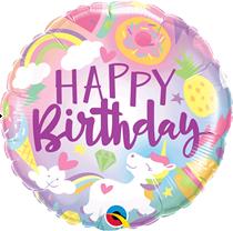 "Unicorn Fun Happy Birthday 18"" Foil Balloon"