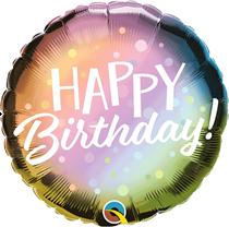 "Happy Birthday Metallic Ombre 18"" Foil Balloon"