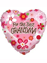 """Mother's Day For the Best Grandma 18"""" Foil Balloon"""