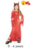 Children's Halloween Devilish Diva Fancy Dress Costume 3-4 Years