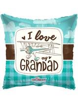 """I Love My Grandad 18"""" Square Foil Balloon"""