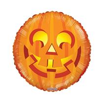 """Halloween Smiling Pumpkin 18"""" Foil Balloon"""