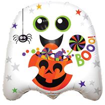 "Halloween Ghost Shaped 18"" Foil Balloon"