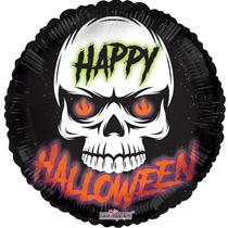 """Happy Halloween Skull 18"""" Foil Balloon"""