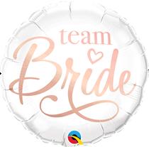 "White Team Bride 18"" Hen Party Foil Balloon"